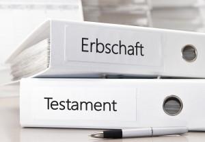 Testament und Erbschaft regeln, Formulare